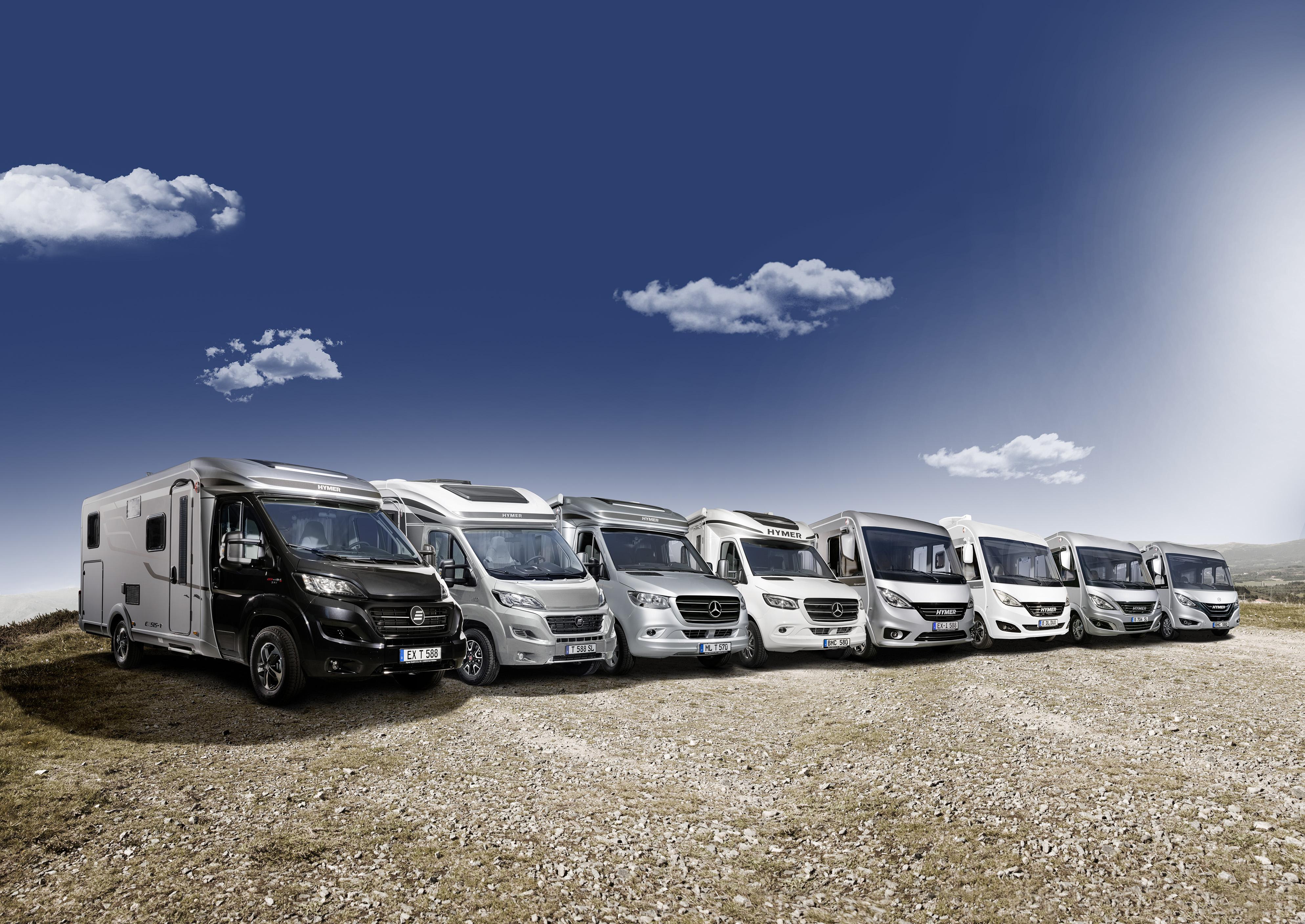 HYMER Reisemobile - Produktpalette