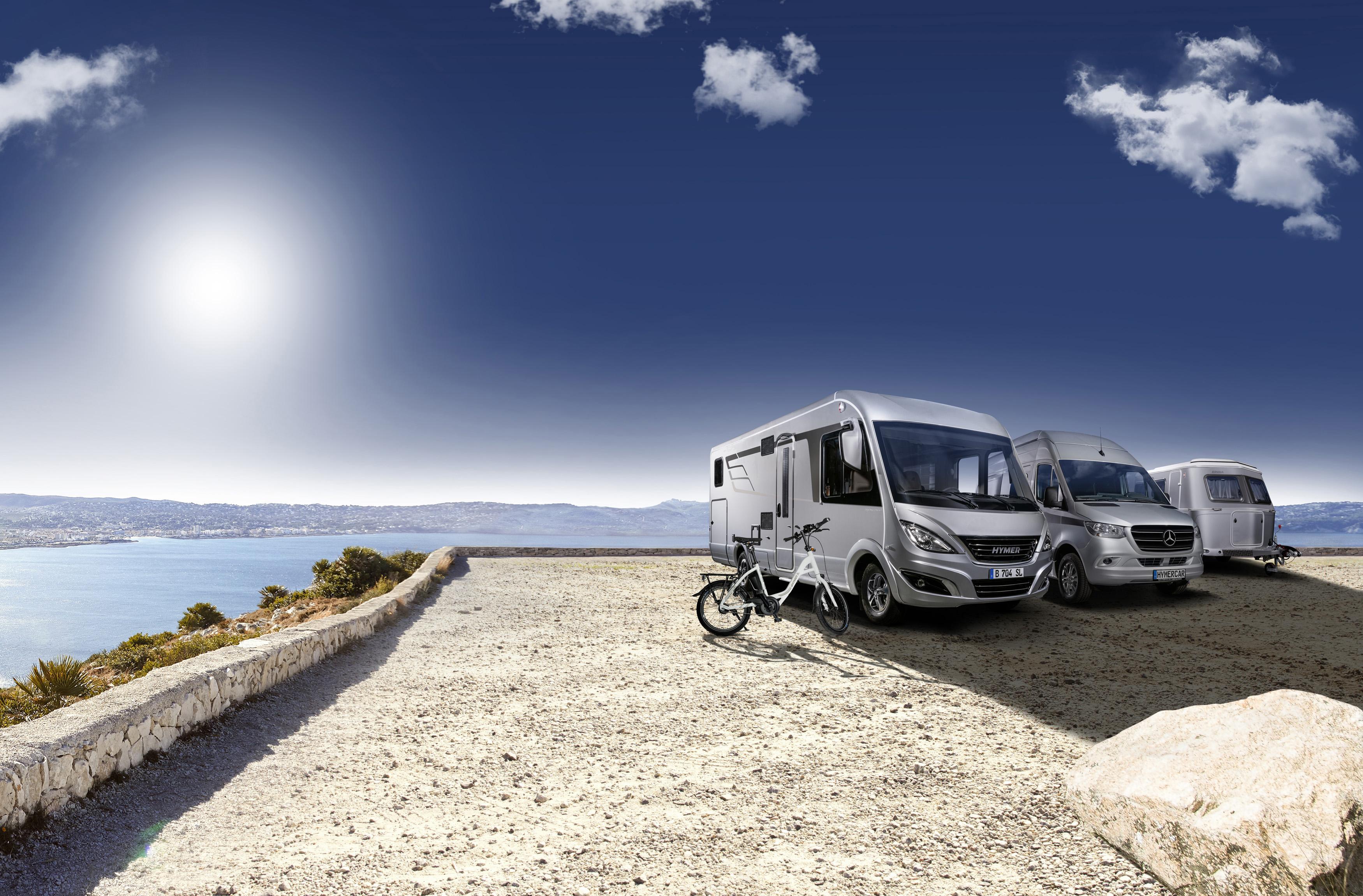 HYMER Geschäftsfelder: HYMER Reisemobile, ERIBA Caravans, HYMERCAR Camper Vans und HYMER Original Teile & Zubehör